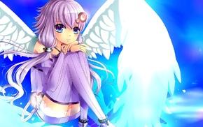 Vocaloid, anime girls, purple hair, wings, anime, Yuzuki Yukari