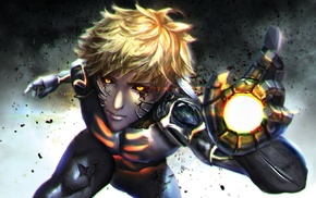 One, Punch Man, Genos, androids, robot, blonde