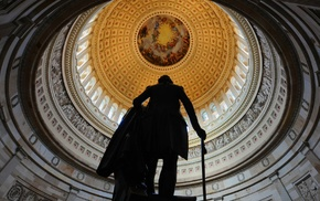 men, USA, statue, Washington, sculpture, dome