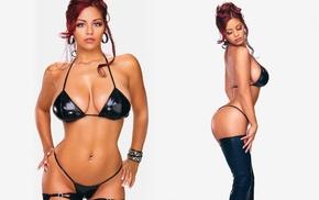 redhead, Brenda Lynn, girl, bikini, thigh, highs