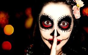 Sugar Skull, Dia de los Muertos, girl, face