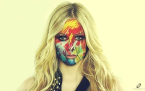 face, Photoshop, rock stars, singing, Avril Lavigne, girl
