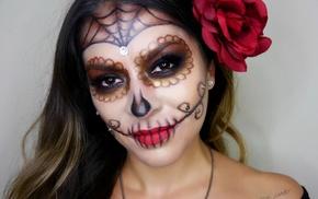 girl, Sugar Skull, Dia de los Muertos