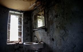 interior, ruins