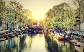 boat, Amsterdam, river