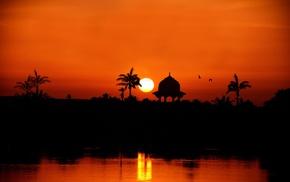 silhouette, Sun