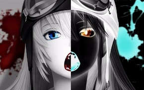Monogatari Series, Oshino Shinobu, inverted, anime, blood, anime girls