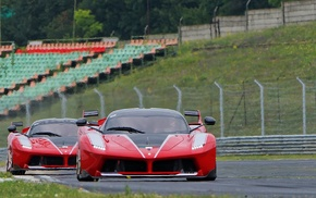 racing, vehicle, race tracks, car, Ferrari, red cars