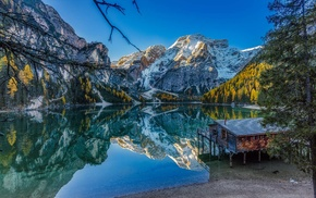 water, mountains, Alps, landscape, nature, Italy