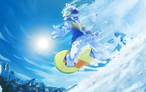 Anthro, furry, snowboarding