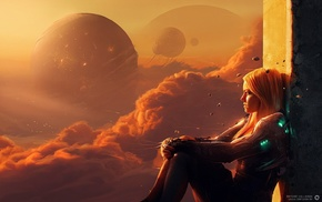 sky, cyberpunk, science fiction