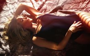 body lingerie, model, bodysuit, sunlight, girl, one