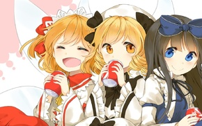 Luna Child, Star Sapphire, Touhou, anime, drink, Sunny Milk