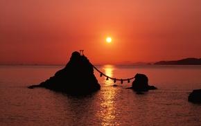 dusk, sea, Japan