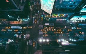 tilt shift, street, high view