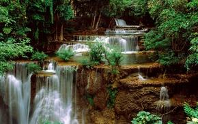 waterfall, nature