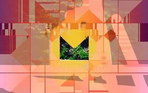 digital art, shapes, warm colors