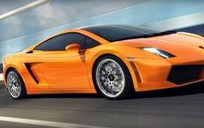 motion blur, Lamborghini Gallardo LP560, 4, road, car