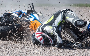 motorcycle, ultra, wide, crash