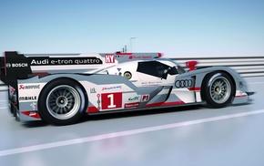 car, FIA World Endurance Championship, race cars, Audi R18 e, tron quattro, race tracks