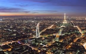 ultrawide, dusk, cityscape, Paris