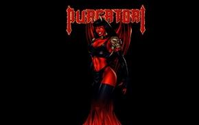 illustration, Lady Death, black background, Chaos Comics, comics, Purgatori