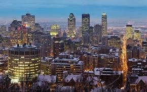 winter, Montreal, city, cityscape