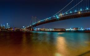 bridge, evening