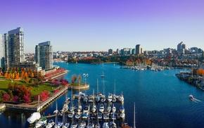 river, city, boat