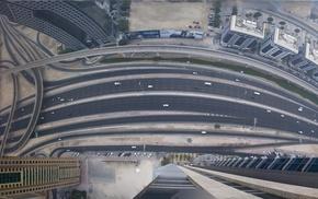 aerial view, panoramic sphere