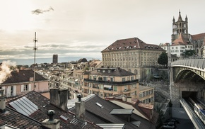 city, Switzerland, cityscape, Lausanne
