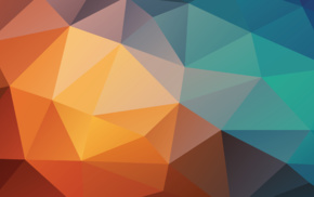 abstract, colorful, triangle