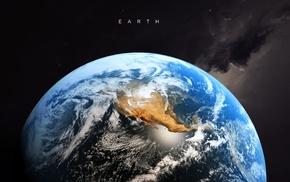 artwork, Earth, digital art, typography, space art