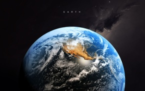 artwork, digital art, space art, typography, Earth