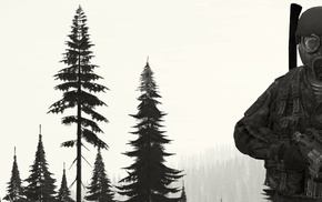 soldier, DayZ, military, forest, middle finger