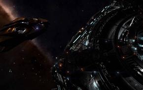 Vulture spaceship, universe, Elite Dangerous, spaceship, video games