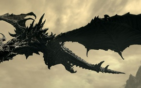 The Elder Scrolls V Skyrim, video games, Alduin, dragon