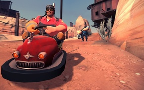 scooters, Engineer character, video games, Team Fortress 2, Heavy charater