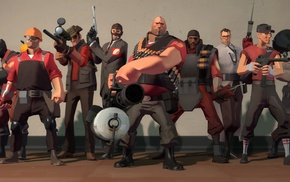 Scout TF2, Sniper TF2, Scout character, Team Fortress 2, video games, Heavy charater