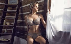window, model, big boobs, girl, underwear, Marta Wierzbicka