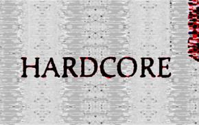 glitch art, red, hardcore, typography, hardstyle