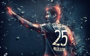 footballers, Bayern Munchen, thomas  muller, Germany, Bundesliga