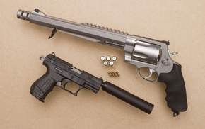 suppressors, gun, pistol, revolver