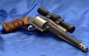 revolver, scopes, gun