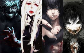 anime, vampires, Blood anime, blood, Rosario  Vampire, Vampire Knight