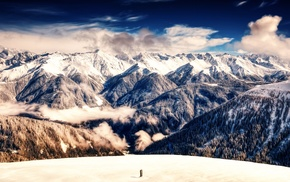 nature, panorama, mountains