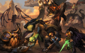 Muradin, Rehgar Warcraft, Stitches, Falstad Warcraft, Murky, heroes of the storm