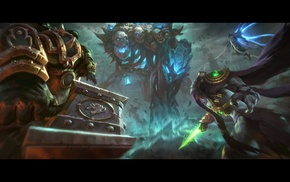 Thrall, Tyrael, zeratul, heroes of the storm, skeleton