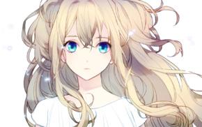 anime girls, white background, blue eyes, Vocaloid, SeeU, blonde