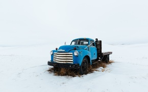 vehicle, snow, Truck, winter, car, Chevrolet